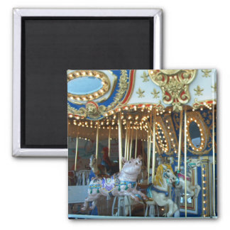 Merry Go Round 2 Inch Square Magnet
