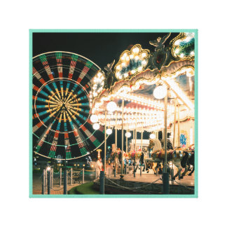 Merry-go-round amusement series 43 canvas print