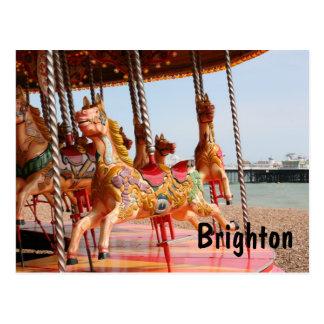 Merry-go-round, Brighton Postcard