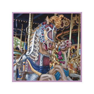 Merry-go-round carnival horse canvas series 29