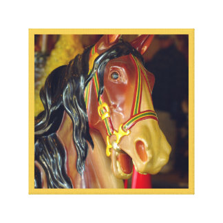 merry-go-round carnival ride horse series 19 canvas print