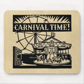 Merry-go-round Carnival Time Mouse Pad