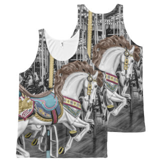 Merry Go Round Carousel All-Over-Print Tank Top