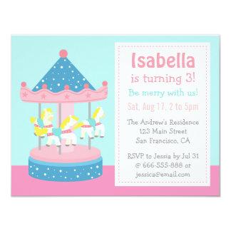 Merry Go Round, Carousel Birthday Party Invitation