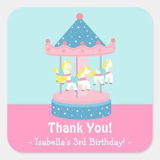 Merry Go Round Carousel Birthday Party Stickers