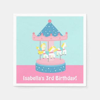 Merry Go Round Carousel Birthday Party Supplies Paper Napkin