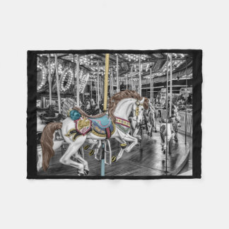 Merry Go Round Carousel Fleece Blanket