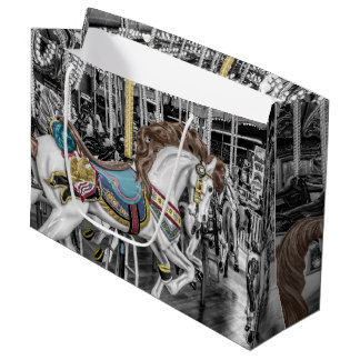 Merry Go Round Carousel Large Gift Bag