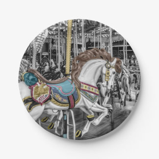 Merry Go Round Carousel Paper Plate