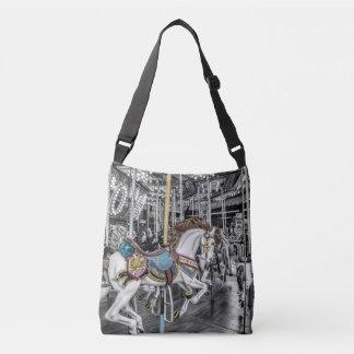 Merry Go Round Carousel Photography Crossbody Bag