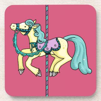 Merry Go Round carousel Pony Drink Coaster