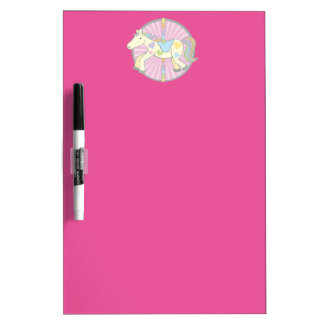 Merry-Go-Round Carousel Pony in Pink Dry-Erase Board