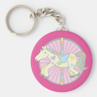 Merry-Go-Round Carousel Pony in Pink Keychain