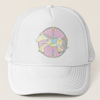 Merry-Go-Round Carousel Pony in Pink Trucker Hat