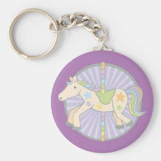 Merry-Go-Round Carousel Pony in Purple Keychain