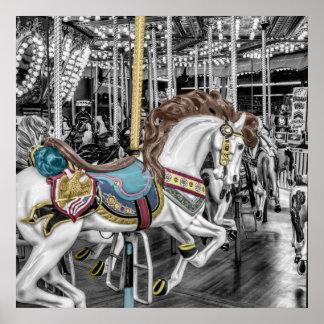 Merry Go Round Carousel Poster