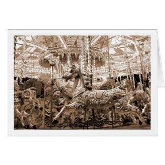 Merry-go-round / Carousel - Sepia Card