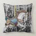 Merry Go Round Carousel Throw Pillow