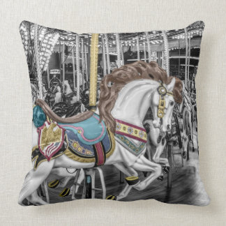 Merry Go Round Carousel Throw Pillow