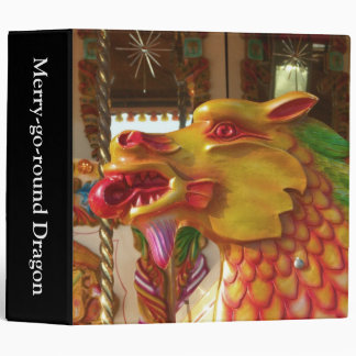 Merry-go-round Dragon (2in) 3 Ring Binder