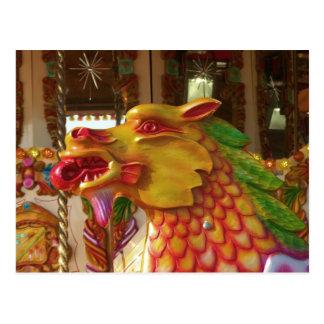 Merry-go-round Dragon Postcard