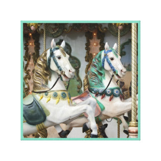 Merry-go-round flying horses series 34 canvas print