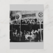Merry Go Round Holiday Postcard