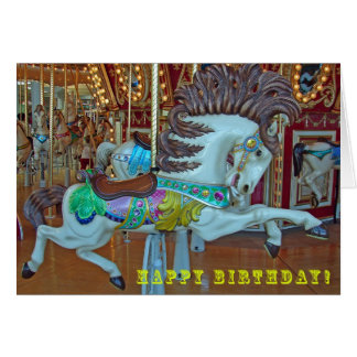 Merry-Go-Round Horse, Birthday Card