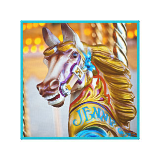 Merry-go-round horse carnival series 23 Canvas Canvas Print