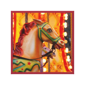 Merry-go-round horse carnival series 33 canvas print