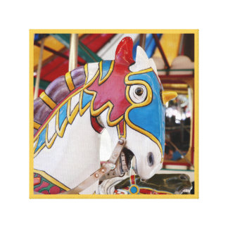 Merry-go-round horse carnival series 36 canvas print