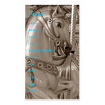 Merry-Go-Round Horse in Sepia Double-Sided Standard Business Cards (Pack Of 100)