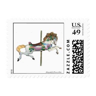 Merry Go Round Horse Postage Stamp