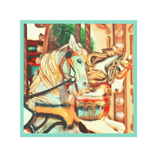 Merry-go-round horse series 40 canvas print