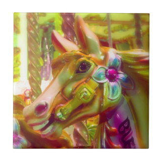 Merry-go-round Horse Small Square Tile