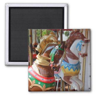 Merry-Go-Round Horses 2 Inch Square Magnet