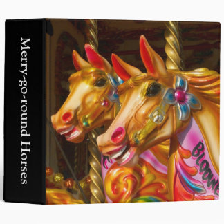 Merry-go-round Horses (2in) 3 Ring Binder