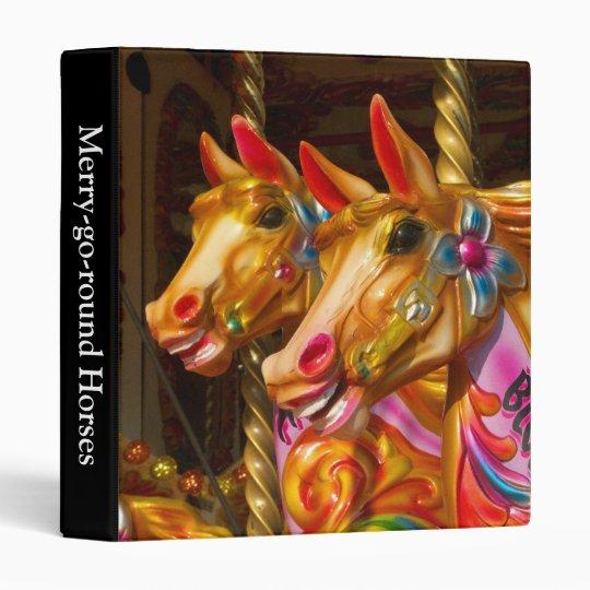 Merry-go-round Horses 3 Ring Binder