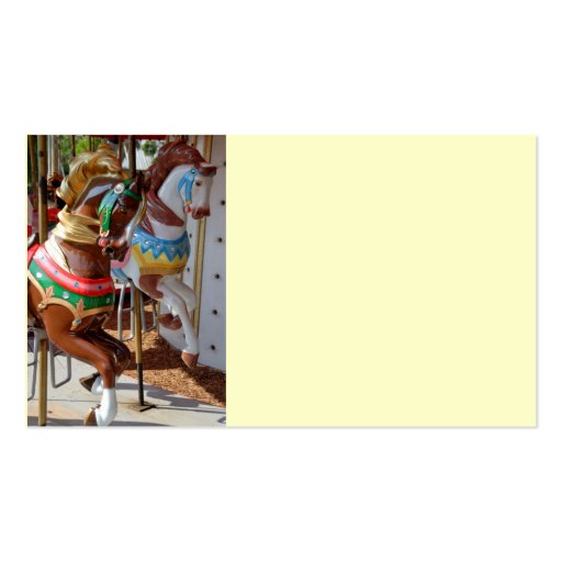Merry go round horses double sided standard business cards for Merry go round horse template
