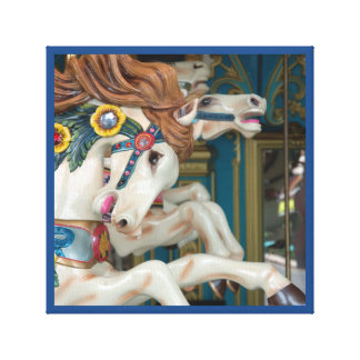 Merry-go-round Horses carnival series 35 Canvas Print