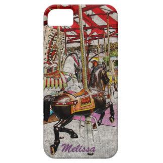 Merry-go-round horses iPhone 5 cover