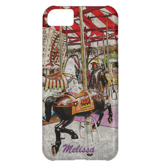 Merry-go-round horses cover for iPhone 5C