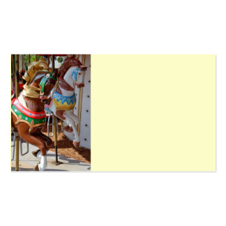 Merry-Go-Round Horses Double-Sided Standard Business Cards (Pack Of 100)