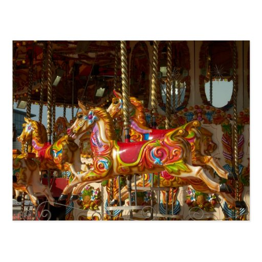 Merry-go-round Horses Postcards