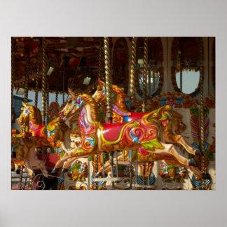 Merry-go-round Horses Poster