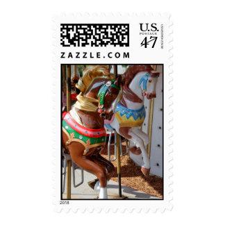 Merry-Go-Round Horses Stamp