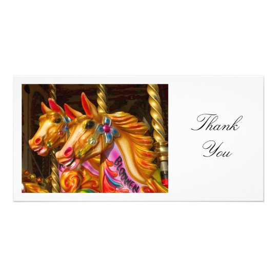 Merry-go-round Horses - Thank You Card