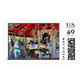Merry-Go-Round in Motion Postage Stamp