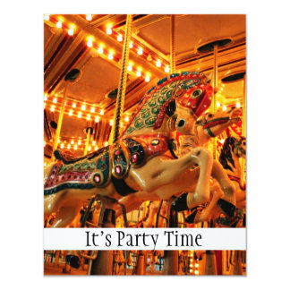 Merry go round 4.25x5.5 paper invitation card
