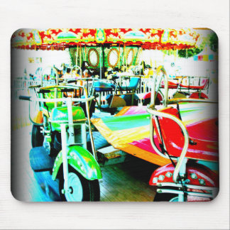 Merry Go Round Motor bikes at the Carnival Mouse Pad